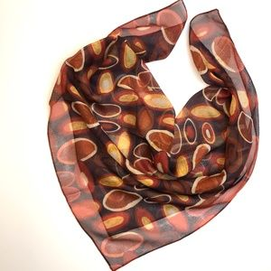 ELAINE GOLD Brown Gold  Scarf - Made in Italy